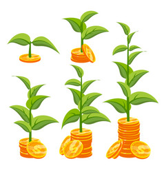 business growth concept creativity vector image