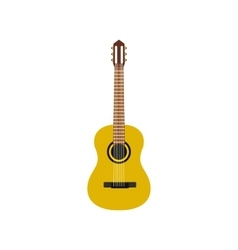 Classic guitar icon flat style vector image vector image