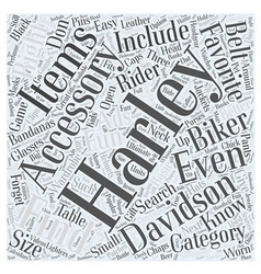Finding The Right Harley Accessory Word Cloud vector image