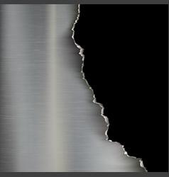 industrial background of torn metal vector image