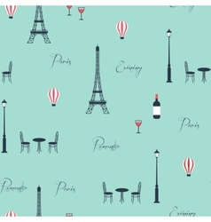 pattern of eiffel tower vector image vector image