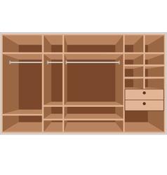 wardrobe room vector image