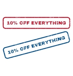 10 Percent Off Everything Rubber Stamps vector