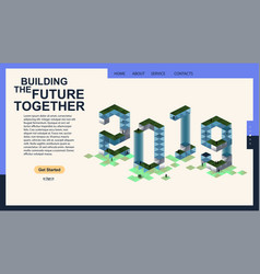 2019 modern isometric banner for web page vector image