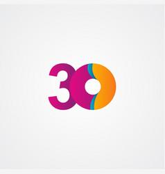 30 years anniversary celebration purple template vector