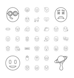 37 smile icons vector