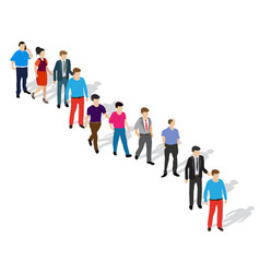 a queue people waiting for their turn standing vector image