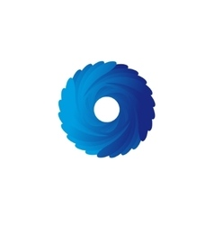 Abstract blue spiral logo vector image
