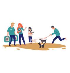 animal shelter or adoption center choosing pet vector image