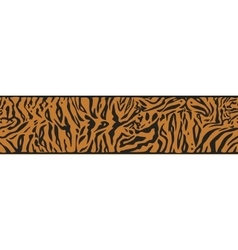 Background with Tiger skin vector