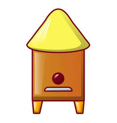 bee house icon cartoon style vector image