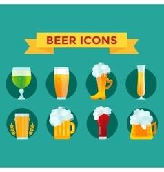 Beer glass set vector