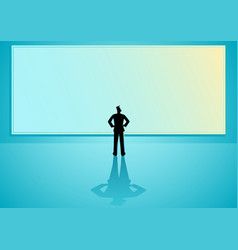 Big blank screen vector
