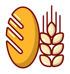 bread wheat icon cartoon style vector image