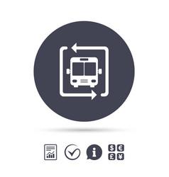 Bus shuttle icon public transport stop symbol vector