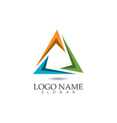 - business abstract logo design template vector image