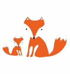 Cartoon foxes vector