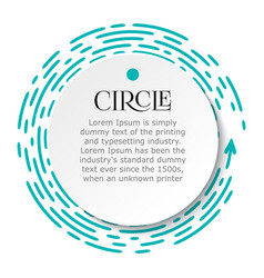 Circle infographic bright blue dotted line under vector
