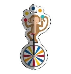 Circus monkey cartoon vector image