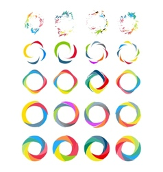 Color circle set vector