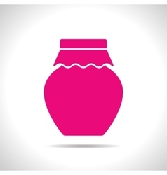 color flat homemade jam bottle template vector image