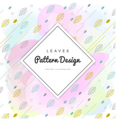 colorful leaves background vector image