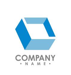 creative abstract diamond square logo design vector image