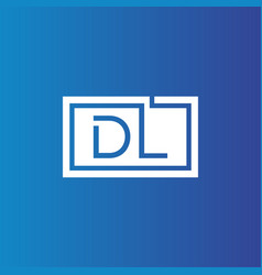 Creative initial letter dl square logo design vector