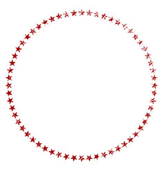 Distress textured star circle vector