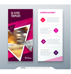 Dl flyer design pink template dl flyer banner vector