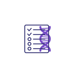 Dna test results medical icon vector