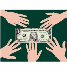 Dollar hands vector