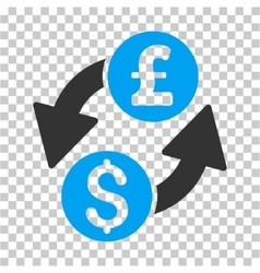 Dollar Pound Exchange Icon vector