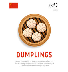 Dumplings traditional chinese dish vector