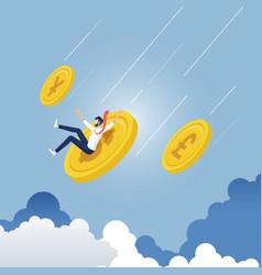 finance decrease and crisis concept vector image