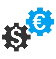Financial Mechanics Flat Icon vector image