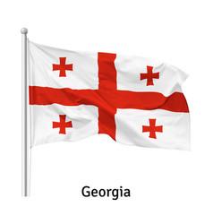 Flag republic georgia vector