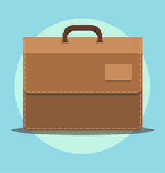 flat icon briefcase business icon vector image