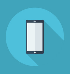 Flat modern design with shadow mobile phone touch vector
