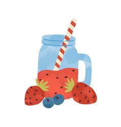 flat simple cartoon healthy vector image