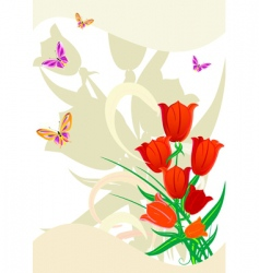 flower red vector image