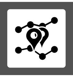 Geo Trends Icon vector