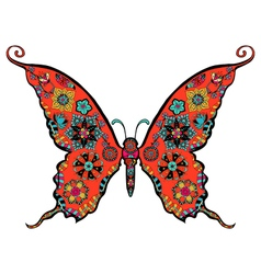 Gorgeous butterfly coloring vector