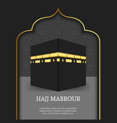 Hajj mabrour background with kaaba vector