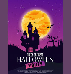 halloween party invitation poster happy halloween vector image