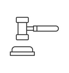 Hammer and gavel judge icon editable stroke vector