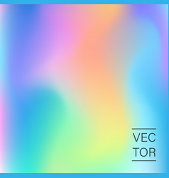 Holographic fashion pastel abstract background vector