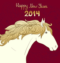 HorseHead12 vector image