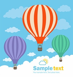 Hot Air Balloon and Clouds vector