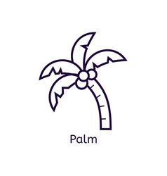 Icon of palm on a white background vector